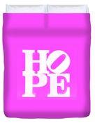 Hope Inverted Pink Duvet Cover