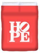Hope Inverted Red Duvet Cover