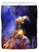 'hope' Woman Portrait  Duvet Cover