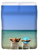 Horizon Blues Duvet Cover