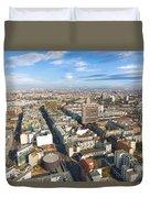 Horizontal Aerial View Of Berlin Duvet Cover