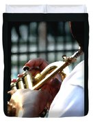 Horn Player Pk 0071 Duvet Cover