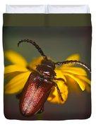 Horned Beetle Duvet Cover