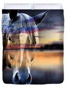 Horse 6 Duvet Cover by Mark Ashkenazi