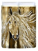 Horse Abstract Neutral Duvet Cover