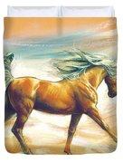 Horse Akalteke Duvet Cover