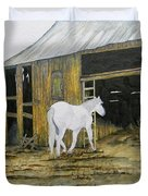 Horse And Barn Duvet Cover