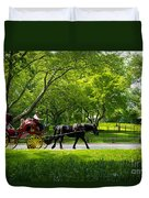 Horse And Carriage Central Park Duvet Cover