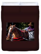 Horse And Rider Duvet Cover