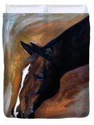 horse - Apple copper Duvet Cover