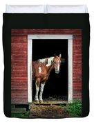 Horse - Barn Door Duvet Cover