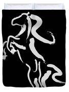 Horse -black And White Beauty Duvet Cover