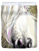 Horse Blowing In The Wind Duvet Cover