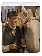 Horse Carriage Driver 3 Duvet Cover