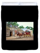 Horse Carriage Duvet Cover