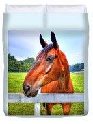 Horse Closeup Duvet Cover