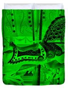 Green Horse E Duvet Cover