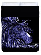 Horse Head Blues Duvet Cover