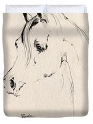 Horse Head Sketch Duvet Cover