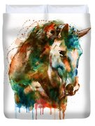 Horse Head Watercolor Duvet Cover