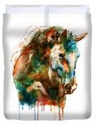 Horse Head Watercolor Duvet Cover