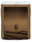 Horse In The Mist Duvet Cover