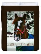 Horse In The Snow Duvet Cover