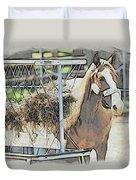 Horse N Hay Duvet Cover