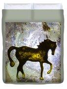 Horse On A Quartz Crystal Duvet Cover