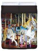Horse On Carousel Duvet Cover