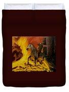 Horse On The Fire Duvet Cover