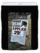 Horse Or Juice Apples Duvet Cover