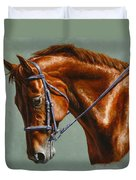 Horse Painting - Focus Duvet Cover by Crista Forest