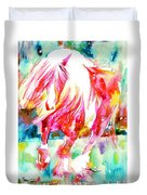 Horse Painting.22 Duvet Cover