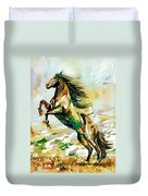 Horse Painting.25 Duvet Cover