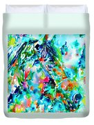 Horse Painting.30 Duvet Cover