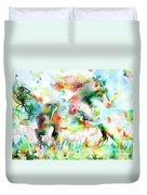Horse Painting.36 Duvet Cover