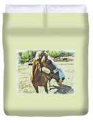 Horse Point Of View Duvet Cover