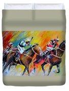 Horse Racing 05 Duvet Cover