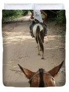 Horse Riding Duvet Cover