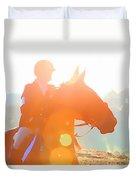 Horse Show Flares Duvet Cover
