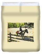 Horse Showing Duvet Cover