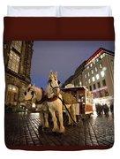 Horse Tram Duvet Cover