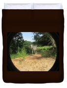 Horse Walks Toward Camera Duvet Cover
