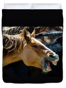 Horse Yawn Duvet Cover