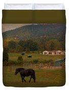 Horseback Riding In Gatlinburg Duvet Cover by Dan Sproul
