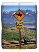 Horseback Riding Sign Duvet Cover
