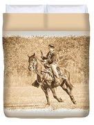 Horseback Soldier Duvet Cover