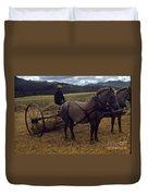 Horsedrawn Harvester Hay Rake On The Berta Ranch Carmel Valley California Circa 1950 Duvet Cover
