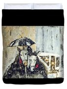 Horses At Stephansdom  Duvet Cover